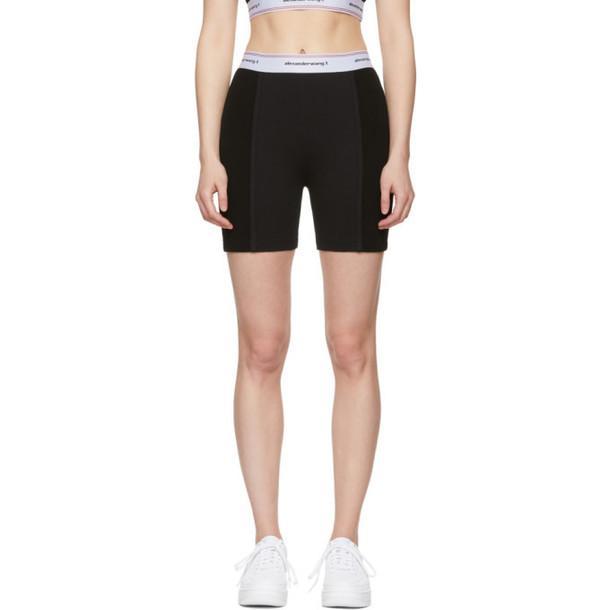 alexanderwang.t Black Wash & Go Logo Bike Shorts