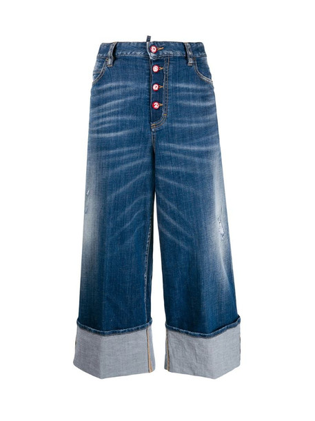 Dsquared2 wide-leg jeans in blue