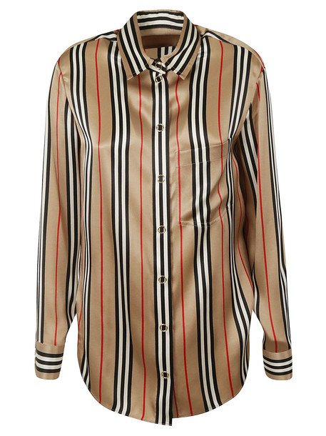 Burberry Striped Shirt in beige