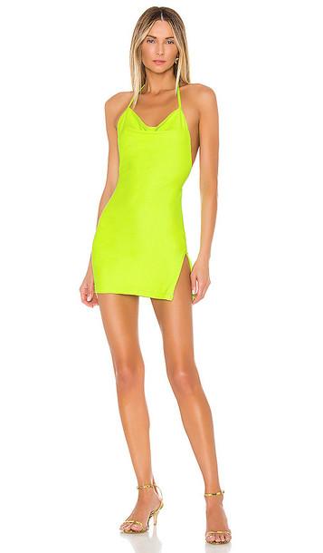 superdown Eden Cowl Slit Dress in Green