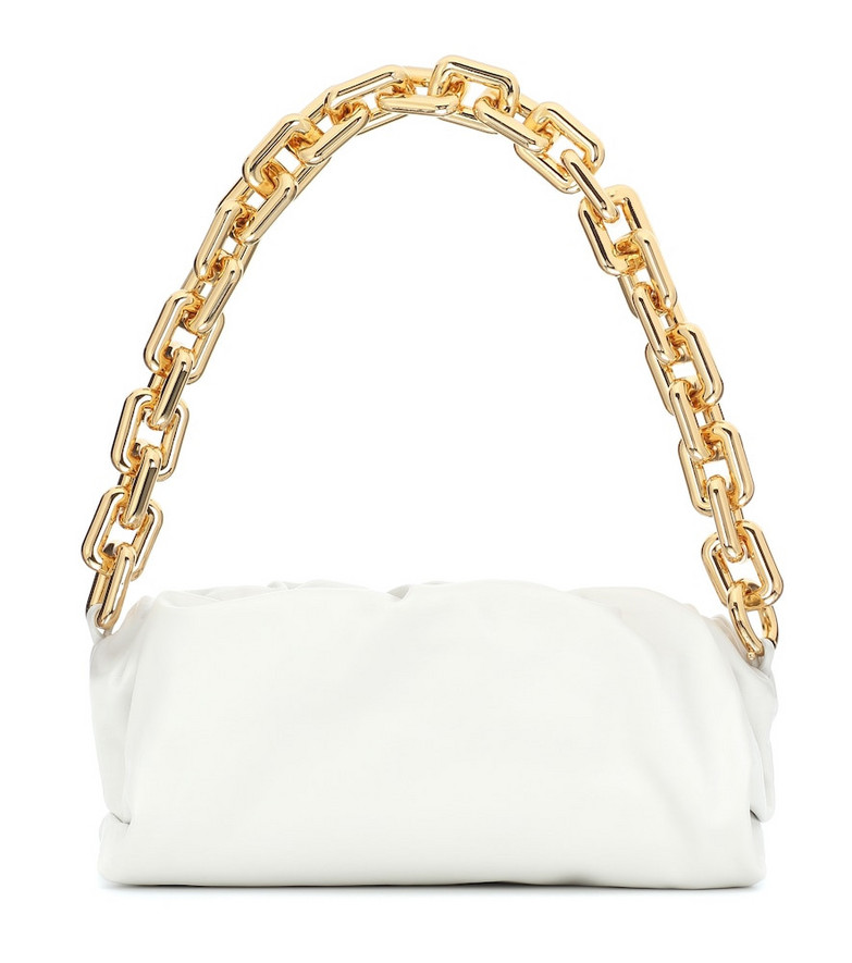 Bottega Veneta The Chain Pouch leather shoulder bag in white