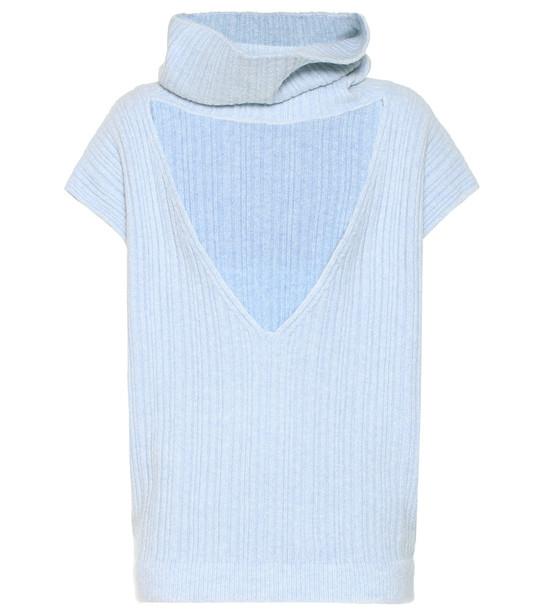 Jacquemus La Maille Aube cotton-blend sweater in blue