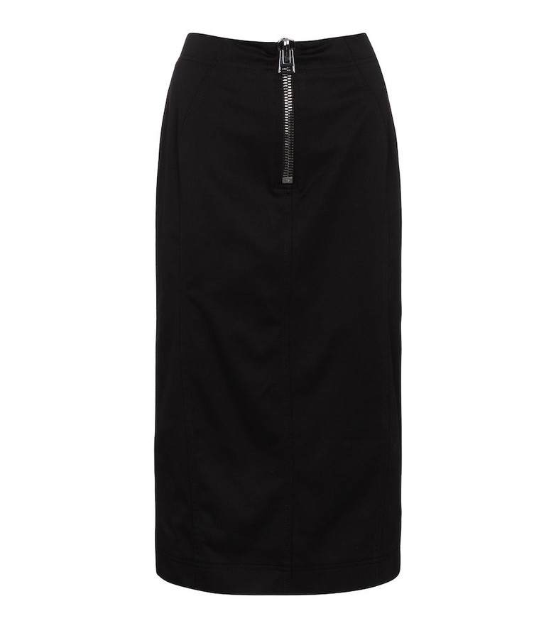Tom Ford Mid-rise cotton pencil skirt in black