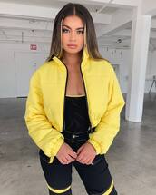 jacket,yellow jacket