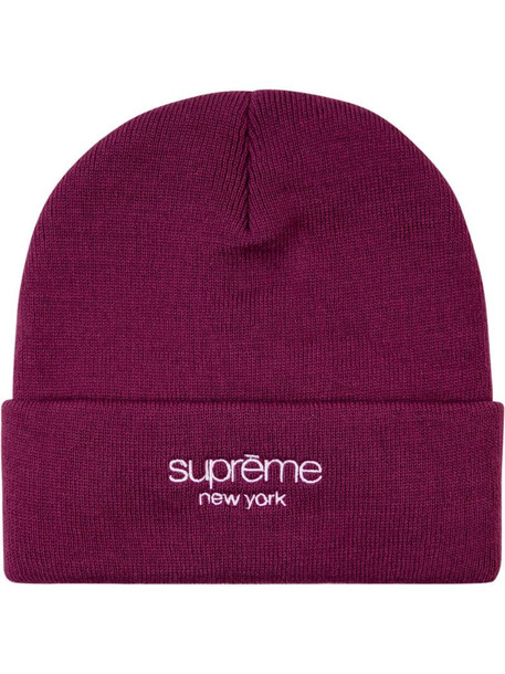 Supreme Radar knitted beanie in red