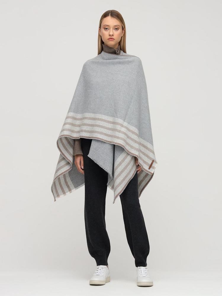 AGNONA Cashmere Knit Poncho in grey