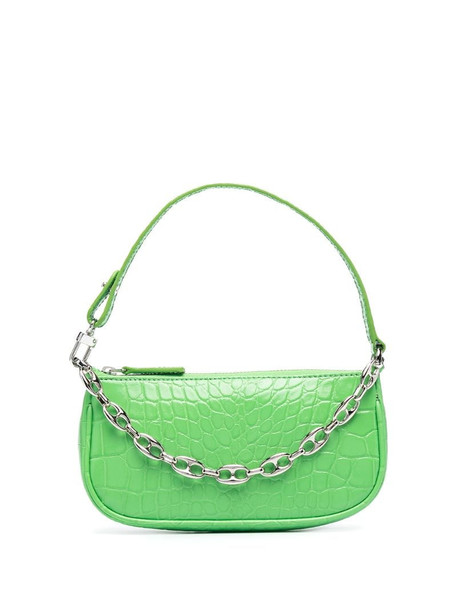 BY FAR Rachel mini embossed bag in green