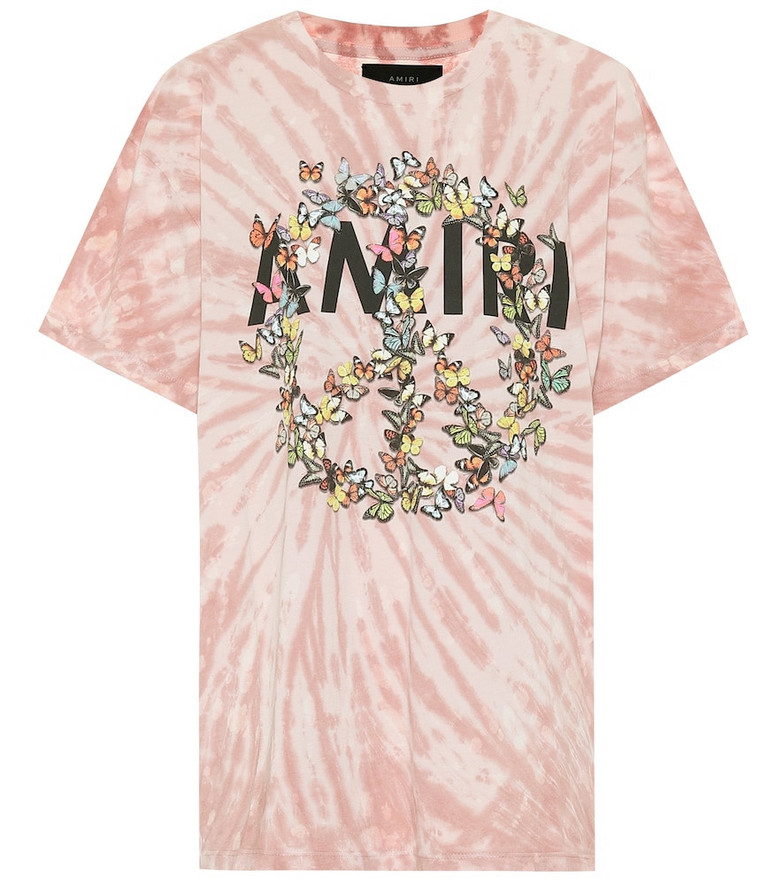 Amiri Peace Butterfly cotton T-shirt in pink