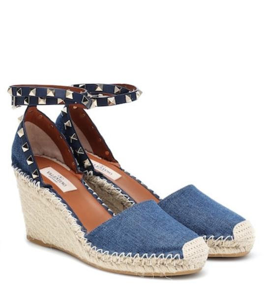 denim wedges blue shoes