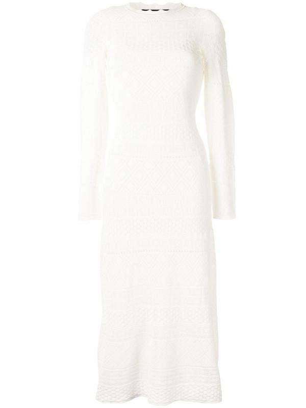 Alexis Volta lace midi dress in white