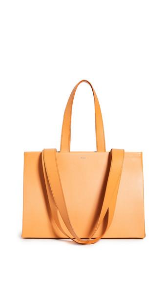 Medea Dieci Double Belt Handle Medea Bag in brown / tan