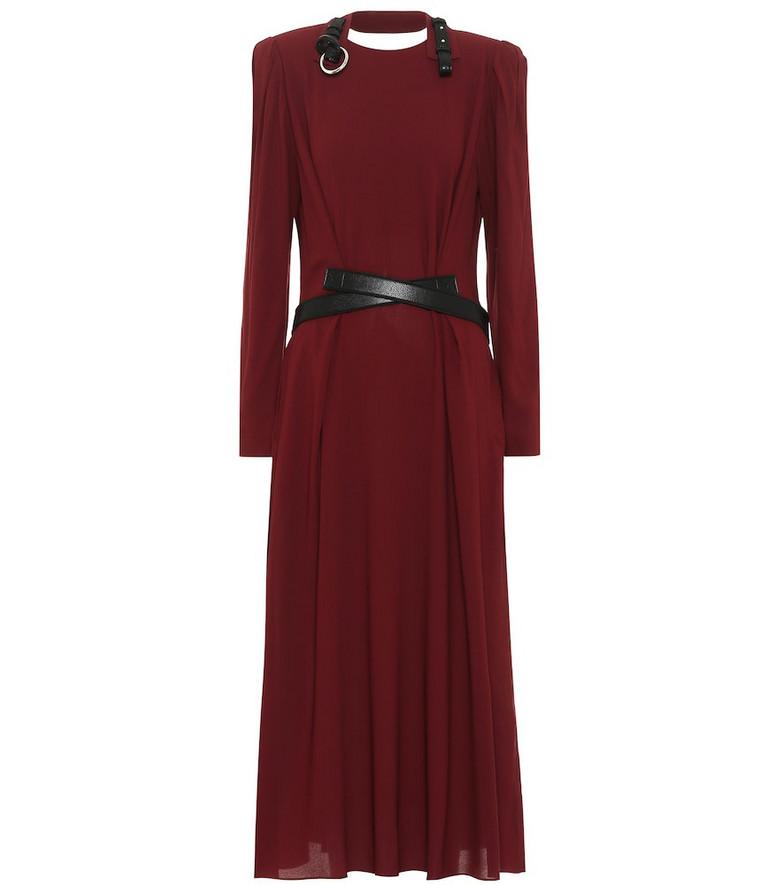 Stella McCartney Crêpe midi dress in red