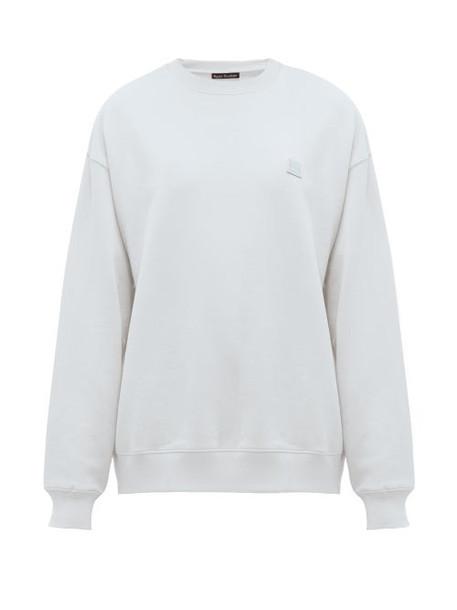Acne Studios - Fairview Face Cotton Sweatshirt - Womens - Light Blue