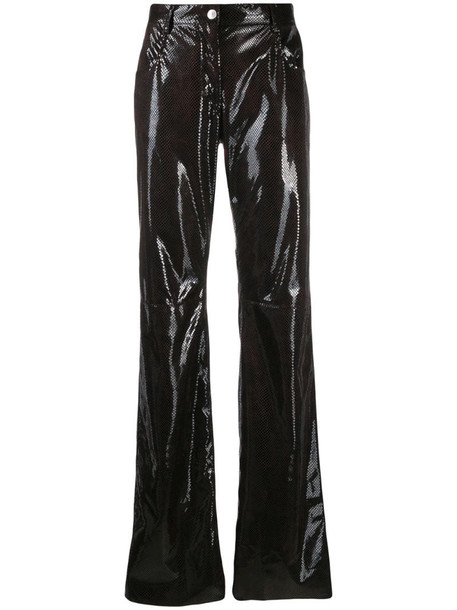 MSGM python print trousers in brown
