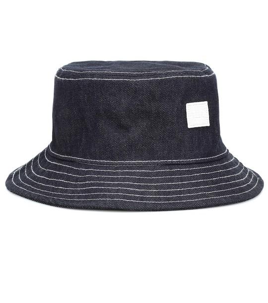 Acne Studios Buk Face denim bucket hat in blue