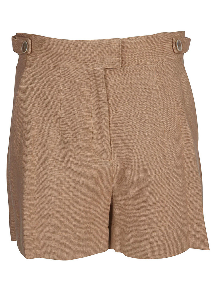 Eleventy High Rise Shorts in beige