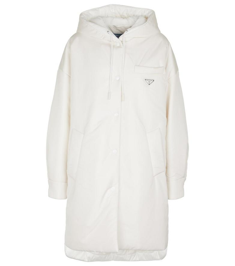 Prada Nylon parka in white