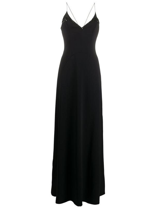 Emilio Pucci sequin detail slip dress in black