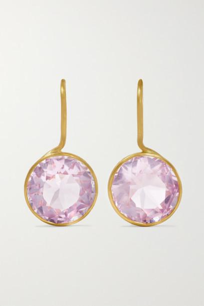 Marie-Hélène de Taillac - Lady Like 18-karat Gold Amethyst Earrings - Purple