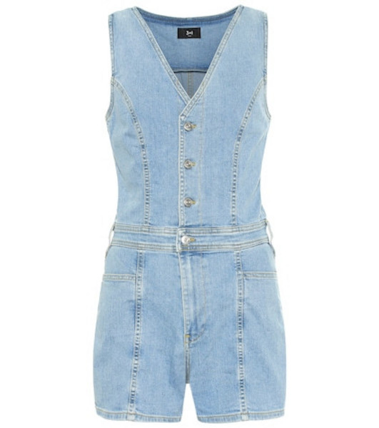 3x1 Albany denim playsuit in blue