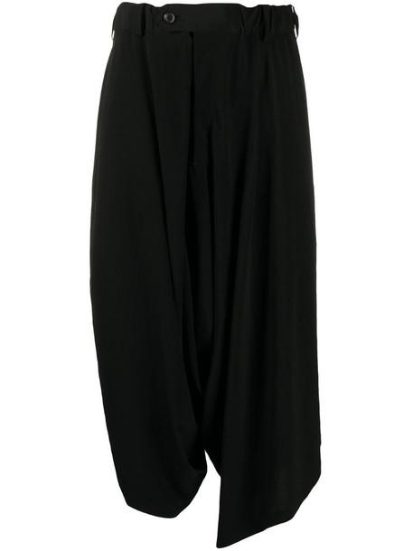 Yohji Yamamoto tapered trousers in black