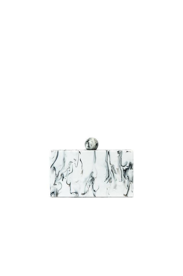 Amber Sceats Demi Clutch in white