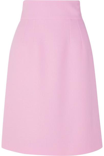 Dolce & Gabbana - Wool-crepe Mini Skirt - Pink