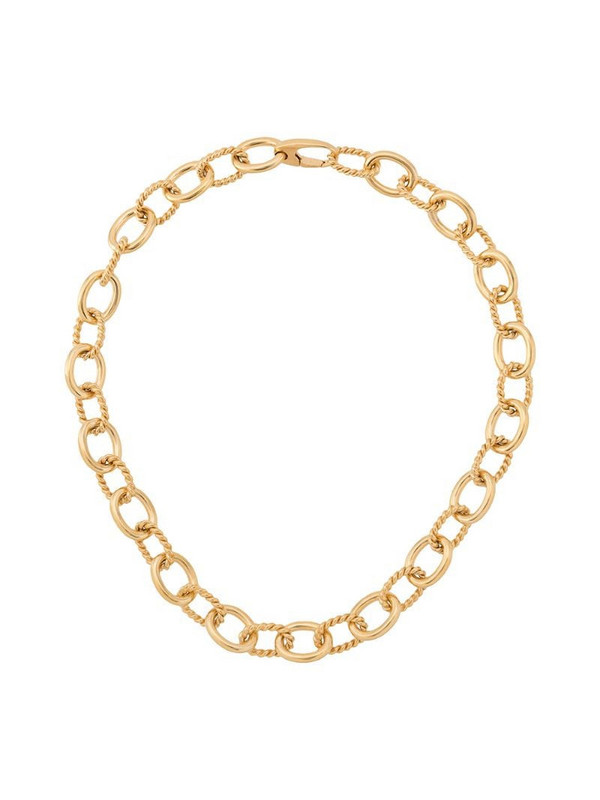Isabel Lennse twisted chunky chain necklace in gold