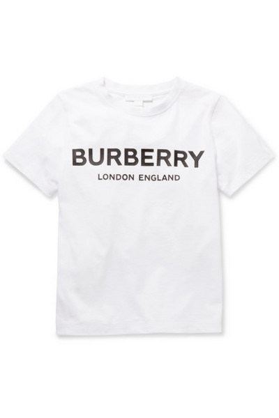 Burberry Kids - Ages 3 - 12 Printed Cotton-jersey T-shirt in white