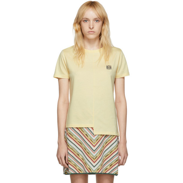 Loewe Yellow Asymmetric Anagram T-Shirt