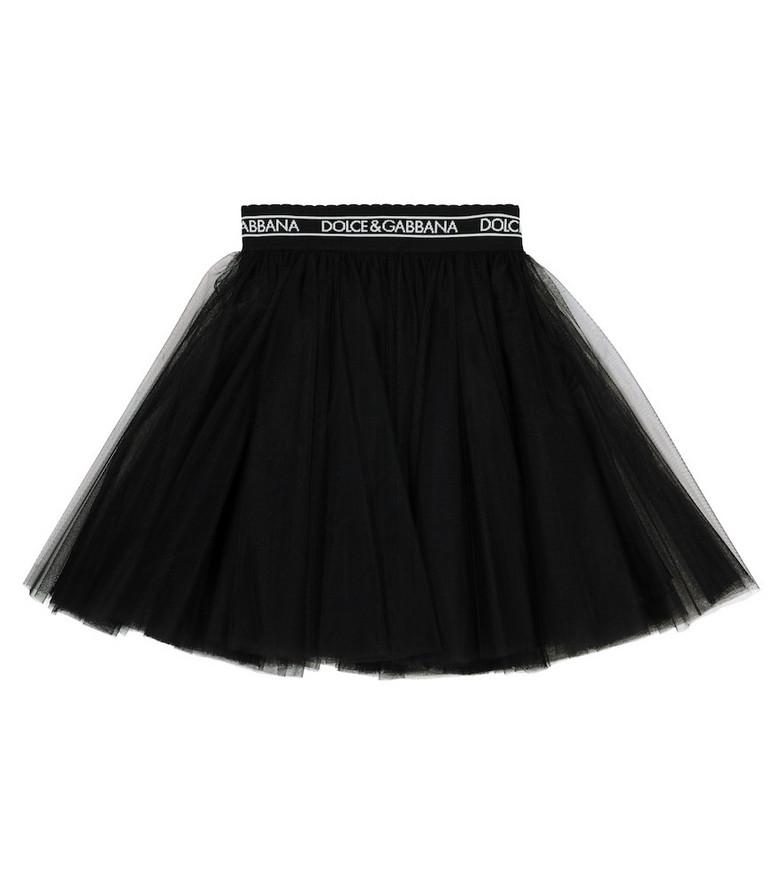 Dolce & Gabbana Kids Tulle skirt in black