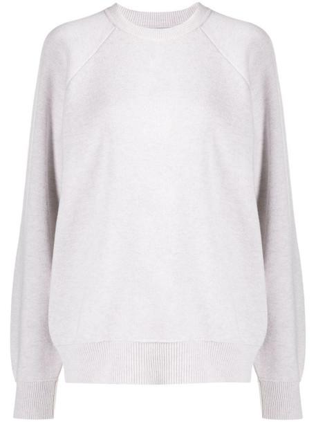 Barrie long sleeve oversized sweatshirt in grey