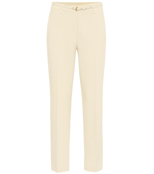 REDValentino Crêpe cigarette pants in white