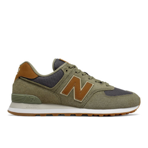 New Balance 574 Men's 574 Shoes - Green/Grey (ML574JOC)