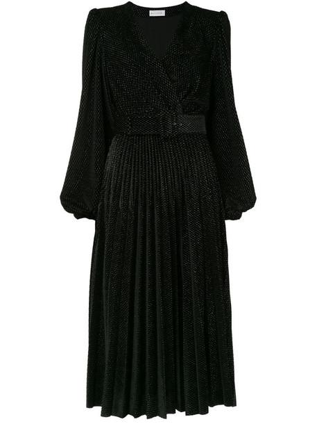 Rebecca Vallance Viper velvet-devoré dress in black