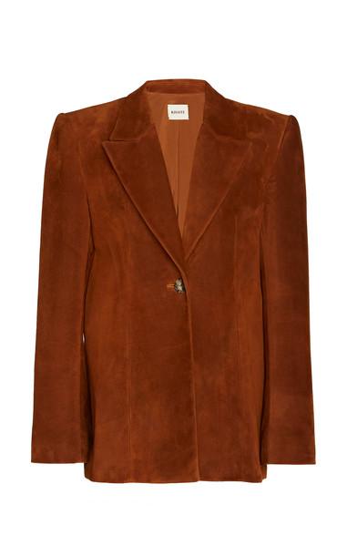 Khaite Erica Suede Blazer Size: 0 in brown