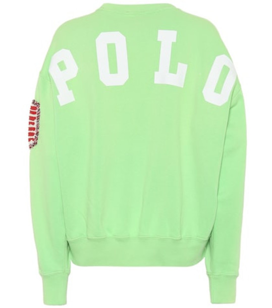Polo Ralph Lauren Appliquéd cotton-blend sweatshirt in green