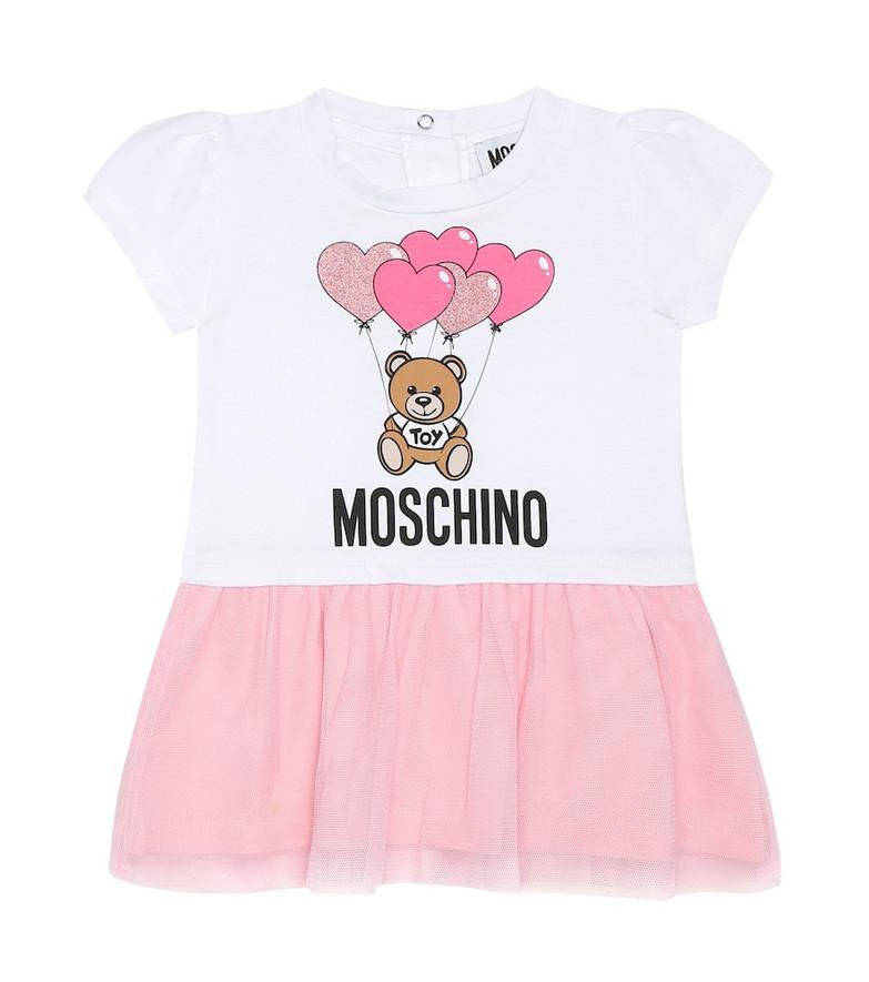 Moschino Kids Baby printed stretch-cotton dress