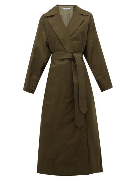 Katharine Hamnett London - Lola Oversized Cotton Blend Trench Coat - Womens - Khaki
