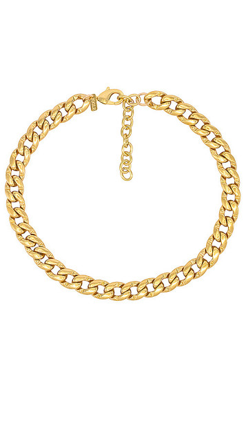 joolz by Martha Calvo Libre Cuban Link Necklace in Metallic Gold
