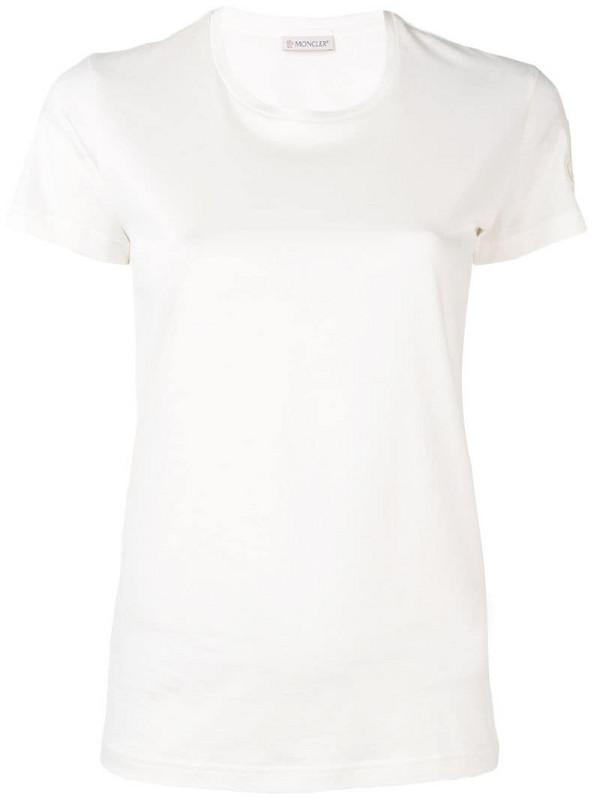 Moncler basic T-shirt in white