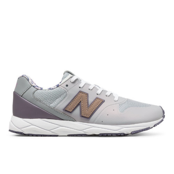 New Balance 96 REVlite Women's Sport Style Shoes - Silver/Purple/Pink (WRT96PCB)