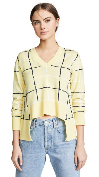 Cedric Charlier V Neck Sweater in yellow