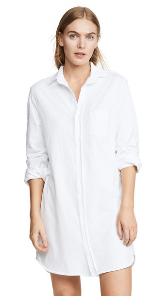 Frank & Eileen Relaxed Button Down Shirt Dress in white