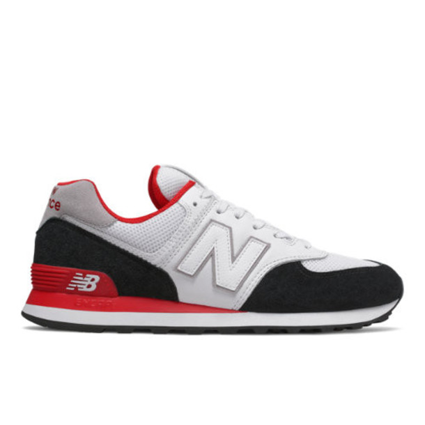 New Balance 574 Men's 574 Shoes - Black/Red (ML574NSB)
