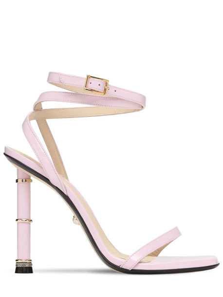 ALEVÌ 110mm Melody Patent Leather Sandals in pink