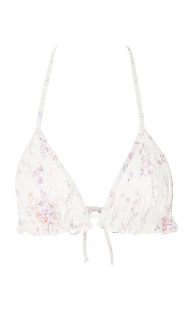 LoveShackFancy Riviera Bikini Top Size: XS in neutral