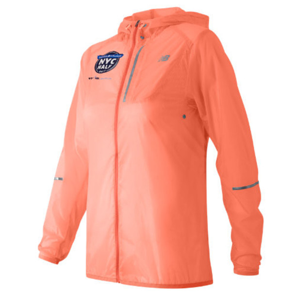 New Balance 61226 Women's United NYC Half Packable Jacket - Pink (WJ61226VBES)