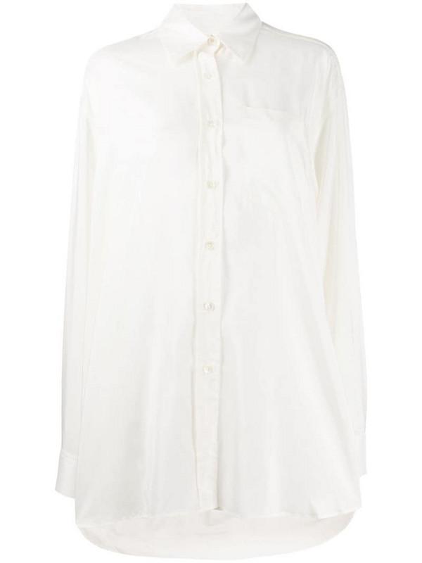 Ann Demeulemeester oversized shirt in neutrals