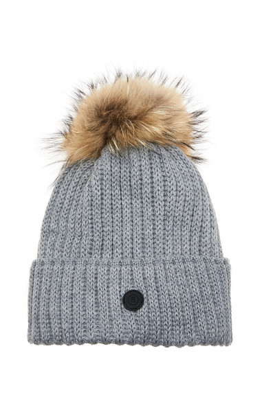 Bogner Rania Pompom-Embellished Wool-Blend Beanie Size: M in grey